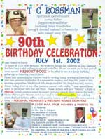 T.C. Rossman 90th Birthday Celebration