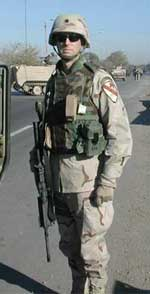 Thumbnail image of LTC David Chesser in Iraq.  Click for a larger version.