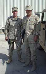 Click for a larger image of Black Hawk members Dennis Ghiselli and Web Wright III.